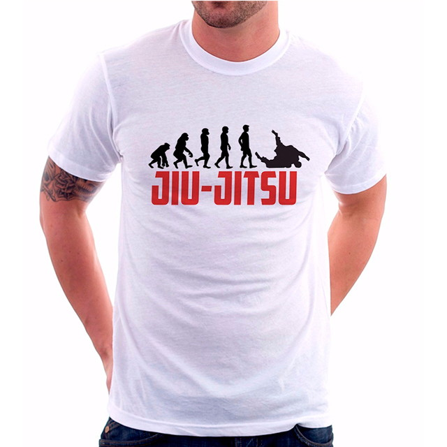 450ac32b89c28 Camiseta Masculina Mma Evolução JiuJitsu no Elo7