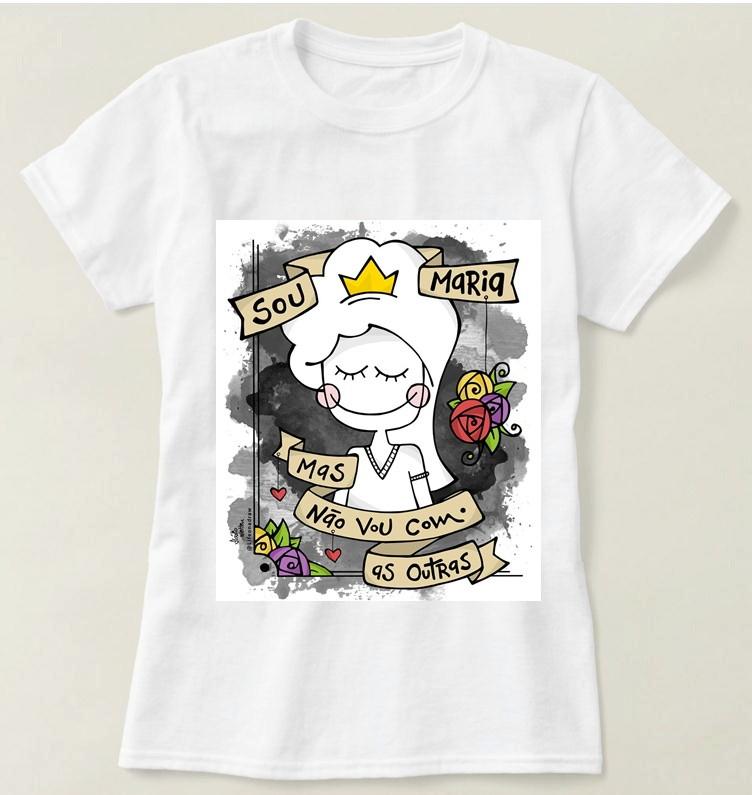 Camiseta Feminina Não Sou Maria no Elo7  ce6d14a7fec