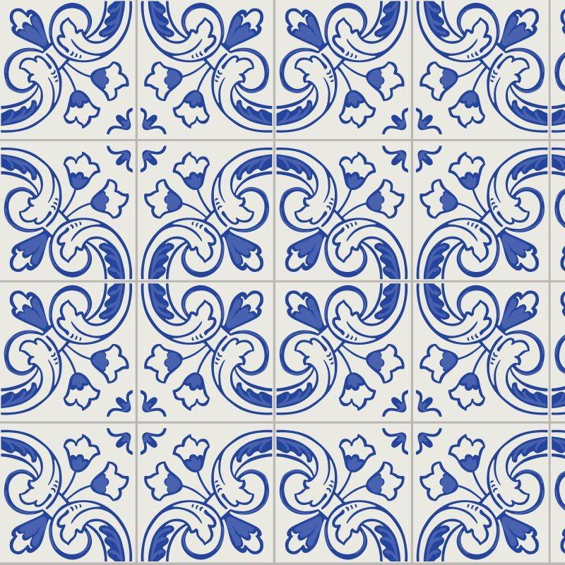 Papel de parede cozinha azulejo shopping go elo7 - Papel para azulejos de bano ...
