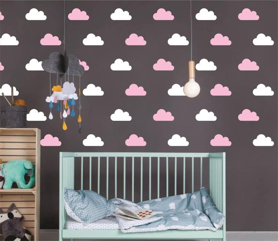 Armario Modulado Quarto Casas Bahia ~ Adesivo nuvens branca e rosa no Elo7 Quarto de Criança Lojadecoreacasa (8F2C5E)