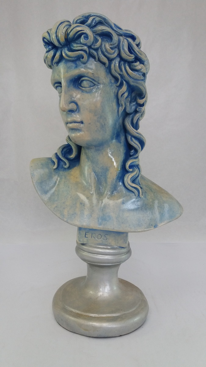 ec89f04f9 Busto Eros pintura mármore azulado no Elo7