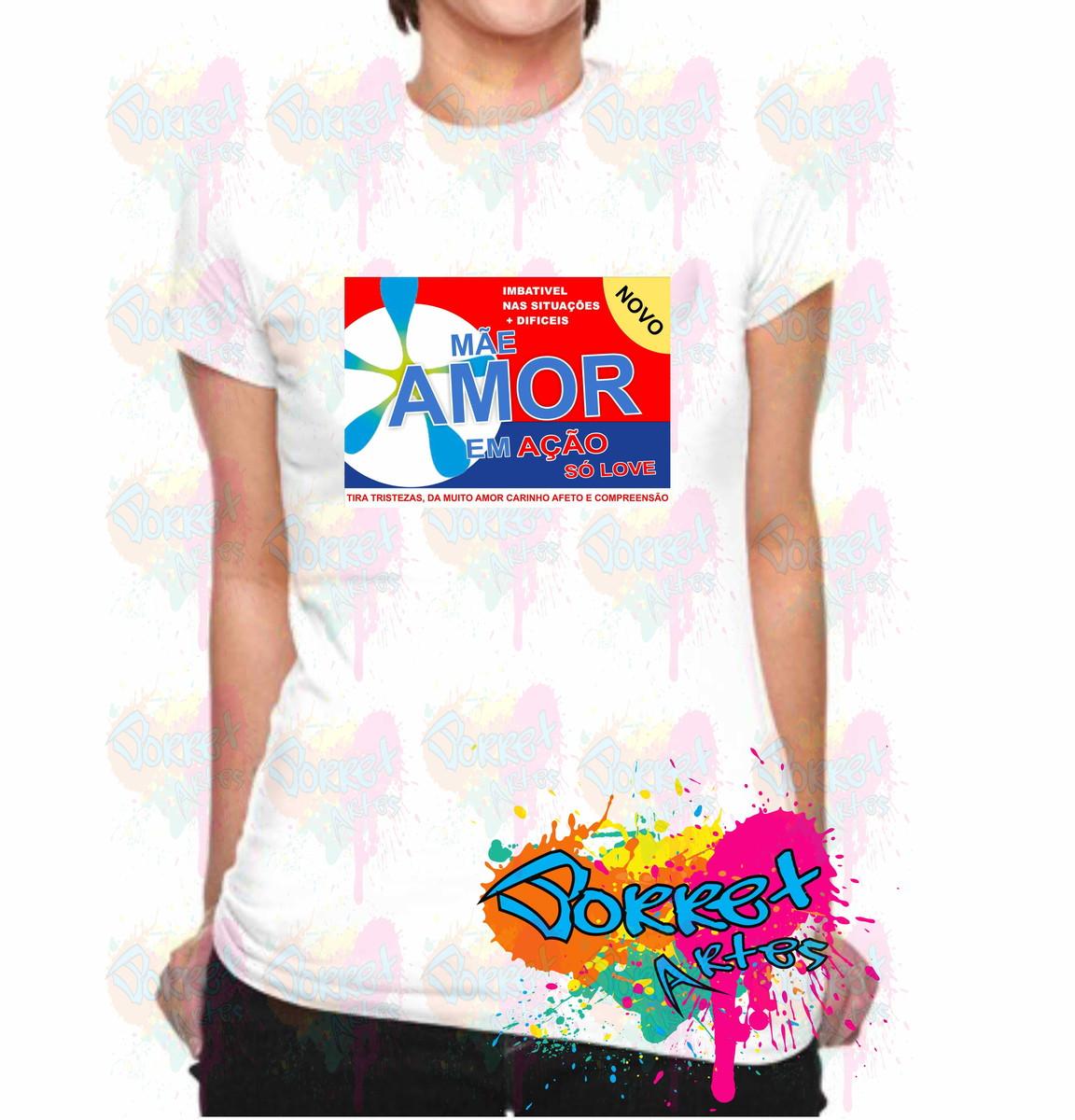 Camisa Personalizada Mãe Amor em Ação no Elo7  f7d458229a85e