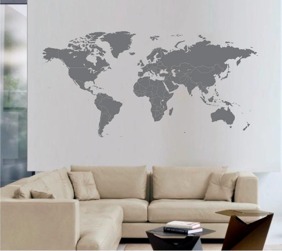 Adesivo De Parede Mapa Mundi No Elo7 Artm Decoracao Criativa