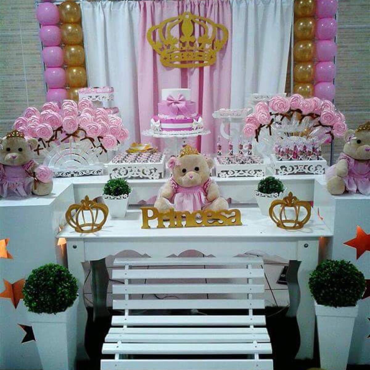 Decoraç u00e3o Ursa Princesa Realeza no Elo7 Bustcowitch Decor&Festa (9039C3) -> Decoração De Aniversario Princesa Realeza