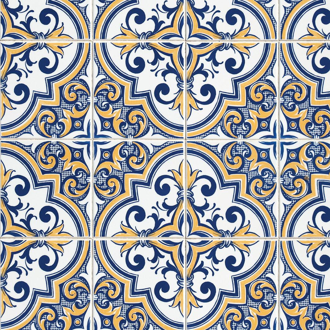 e0e8b1a80 Papel de parede Azulejo Português 29 no Elo7