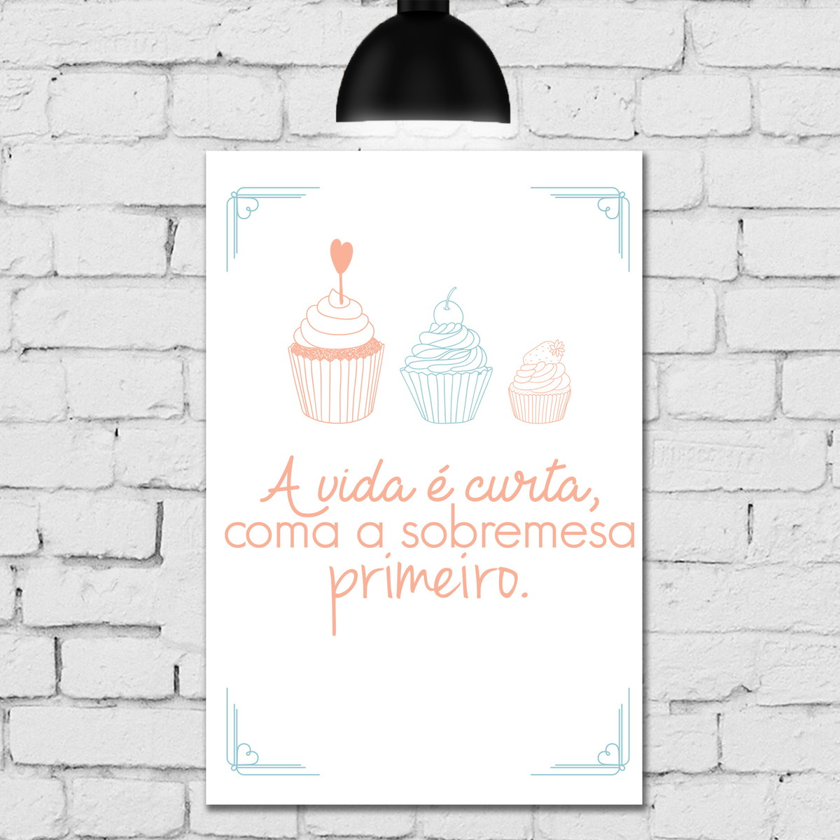 Placa Decorativa Frase Cozinha Sobremesa Quartinhos Elo7 ~ Frases De Limpeza Na Cozinha