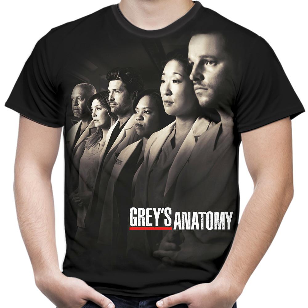 Camiseta Masculina Serie Greys Anatomy No Elo7 Simbiose Tv 907630