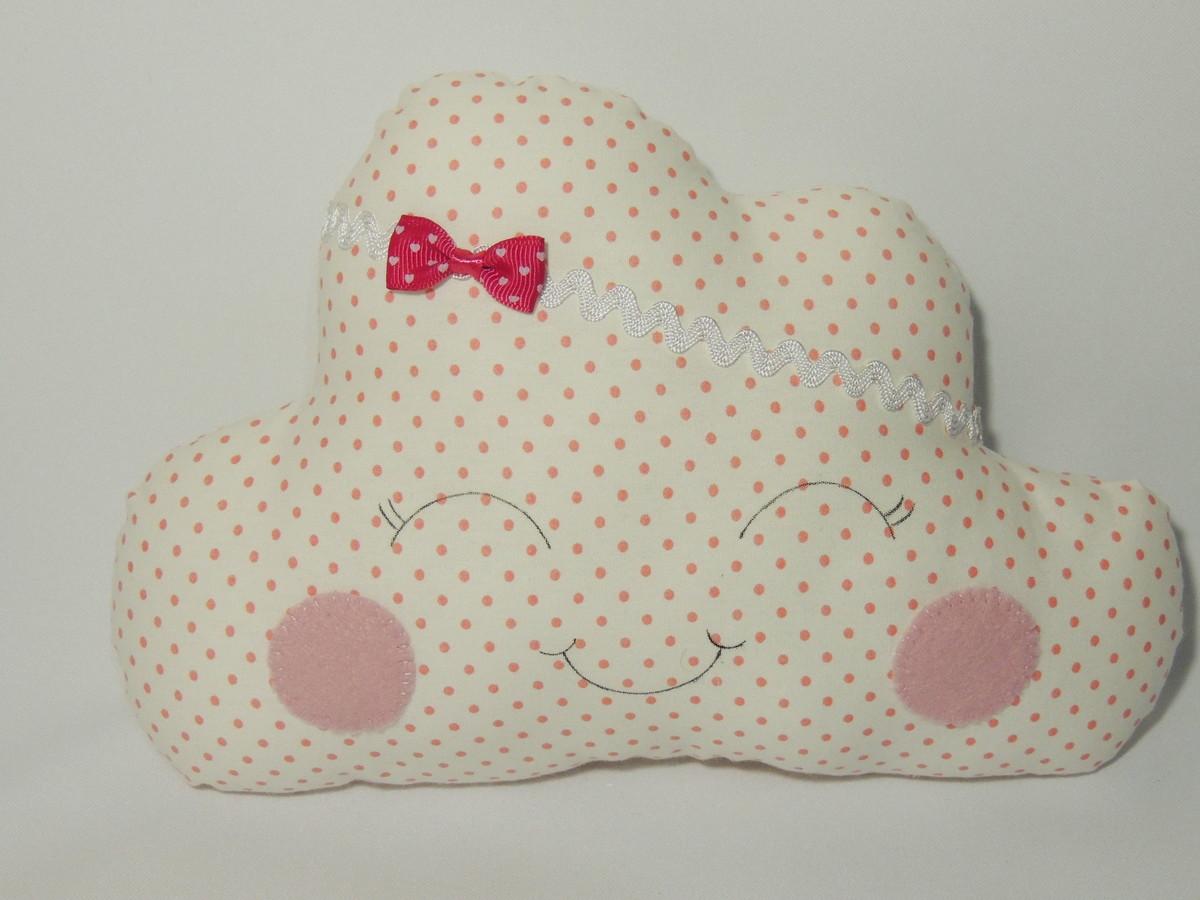 d039dab0be128a Almofada Decorativa Infantil de Nuvem Pequena