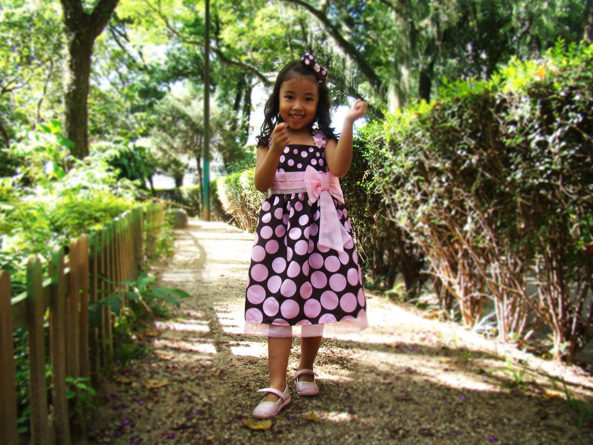3f96459444 Vestido Marrom e rosa de Alças no Elo7