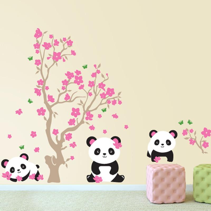 Adesivo Quarto De Bebe Urso ~ Adesivoárvore com ursos panda Quarto de Criança Lojadecoreacasa Elo7