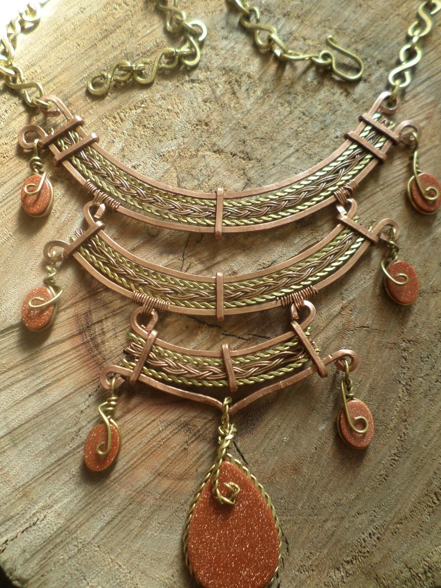 Adesivo De Estradiol ~ colar em arame de cobre e lat u00e3o Tenda Hippie Elo7
