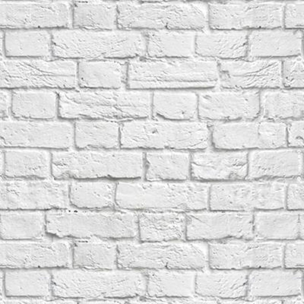 Papel de parede adesivo tijolo branco 3m no elo7 paper for Mosaico adesivo 3d