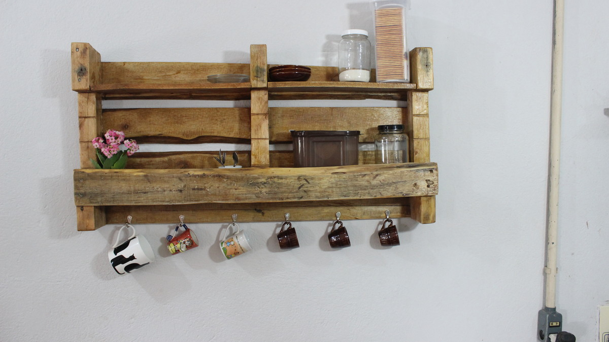 Extremamente Estante de pallets Cantinho do Café no Elo7 | Feito a mão ponto  XI52