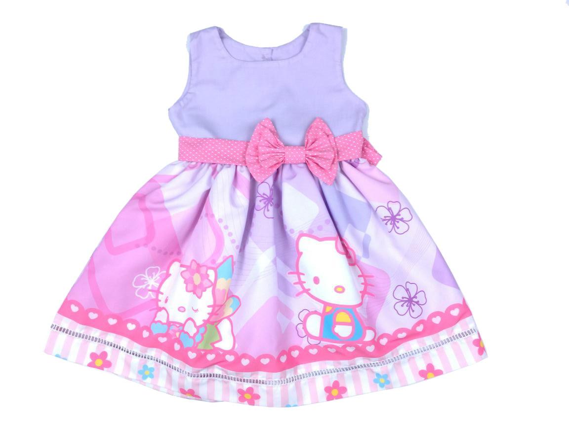 Vestido Hello Kitty 100% Algodão 01 A 06 Anos -Infantil no Elo7 ... 990d755d0f8