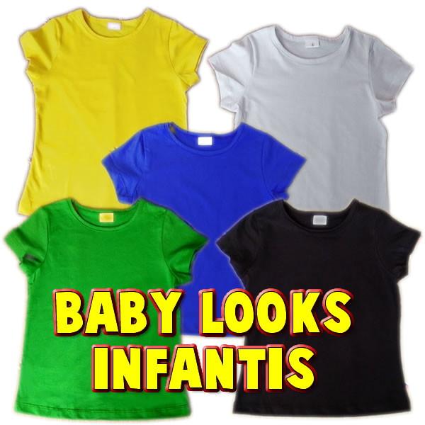 Baby Look Lisa Infantil 100% Algodão. no Elo7  8810494a2f1