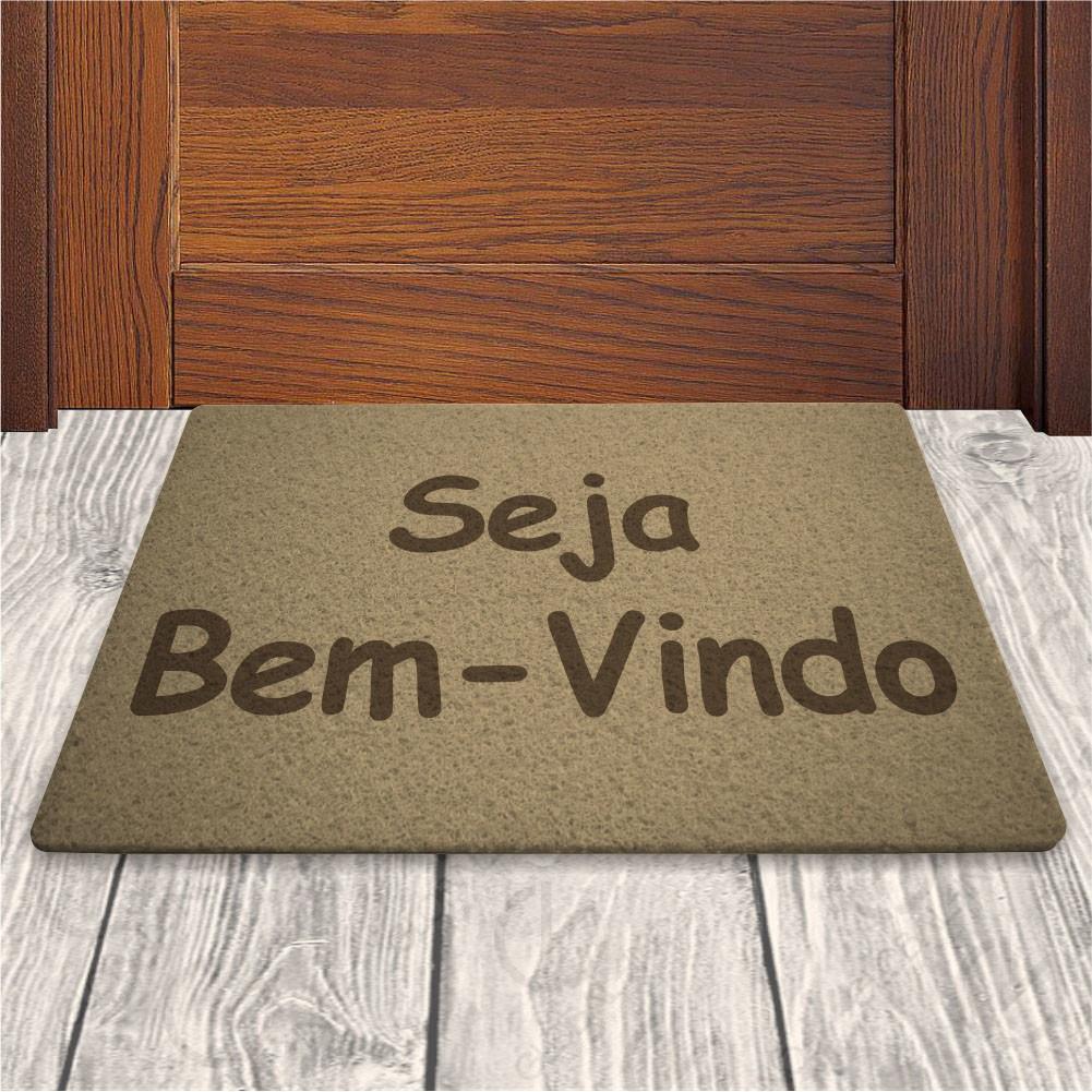 Tapete Capacho Seja Bem Vindo - Fundo Bege - 60x40cm no Elo7 ... 07f520c42772e