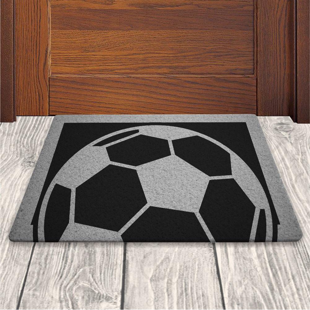 Tapete Capacho Bola de Futebol - Preto - 60x40cm no Elo7  7e1abe267dfd6