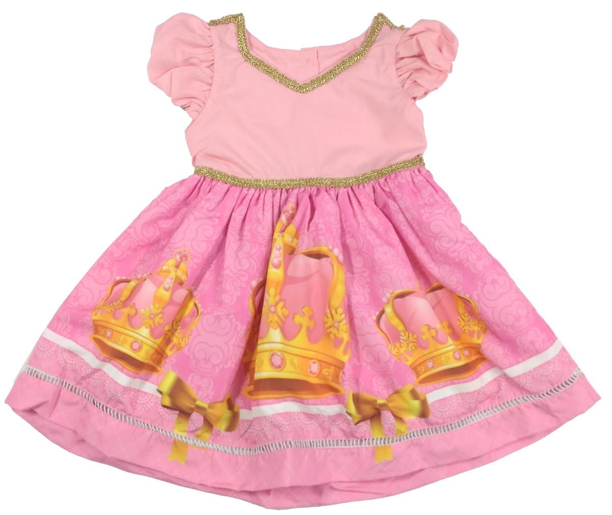 2310a2991a vestido Realeza 100% Algodão 01 a 06 Anos -Infantil no Elo7