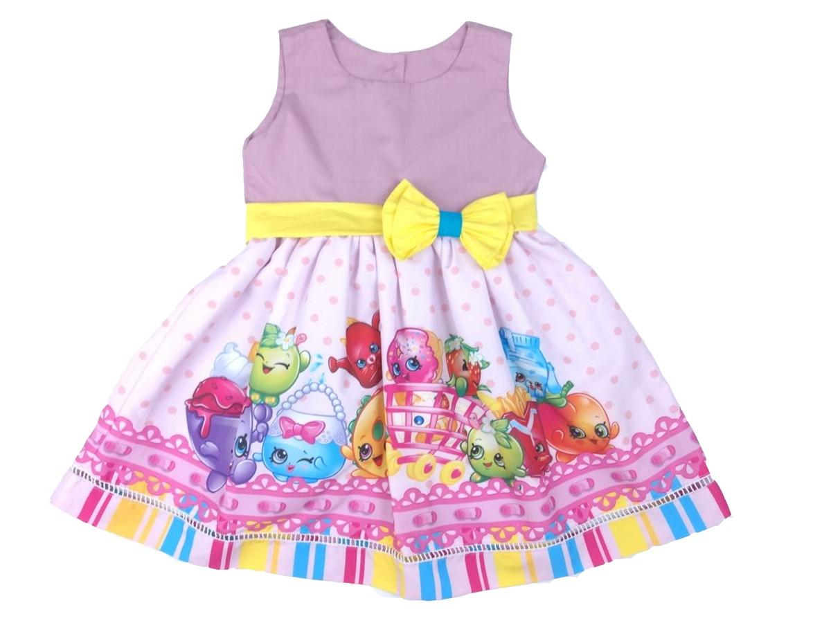 b3916bfd54 Vestido Shopking 100 Algodão 01 a 06 anos -Infantil no Elo7