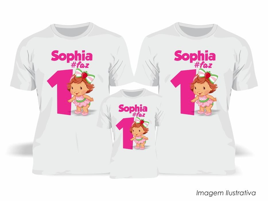 Kit 3 Camisetas - Moranguinho Baby no Elo7  b9f4669614e