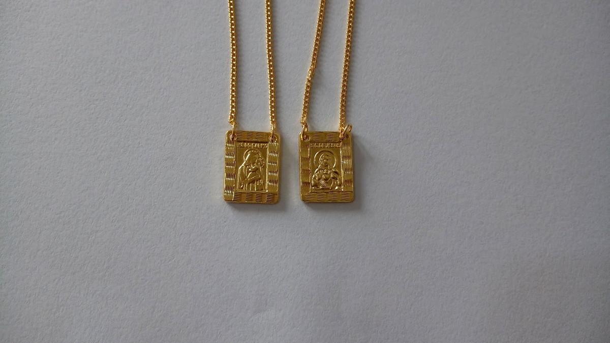 4ed45aff9bfb5 Escapulário Masculino Banhado a ouro 18k no Elo7   Loja AM ...