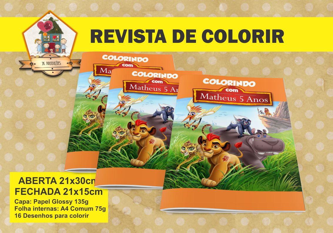 Revista Colorir GUARDA DO LEÃO No Elo7