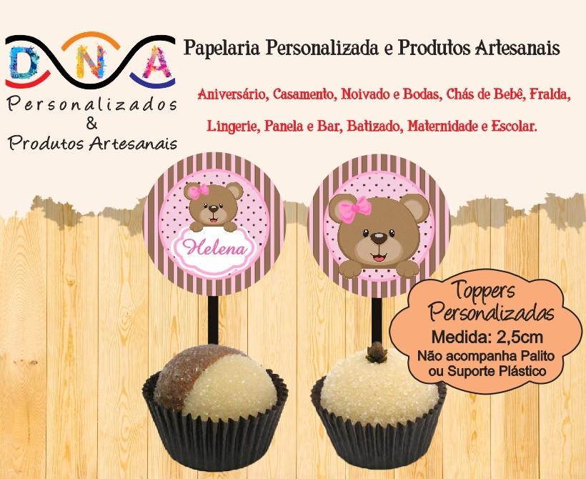 1720d27790c Zoom · Topper Ursinha topper-tags-ursinha-2-5cm-topper-para-cupcake