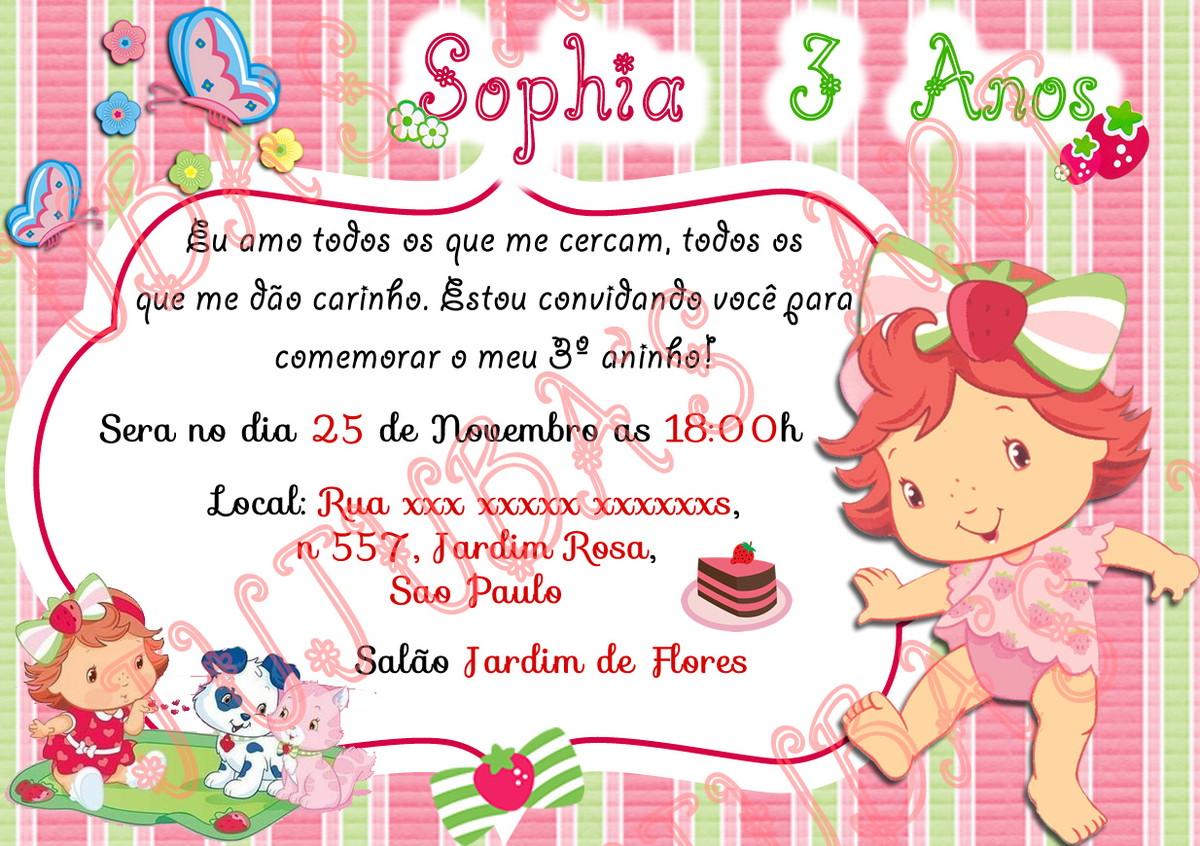 Convite Moranguinho Baby Com Envelope No Elo7 Jujuba S Art 926418