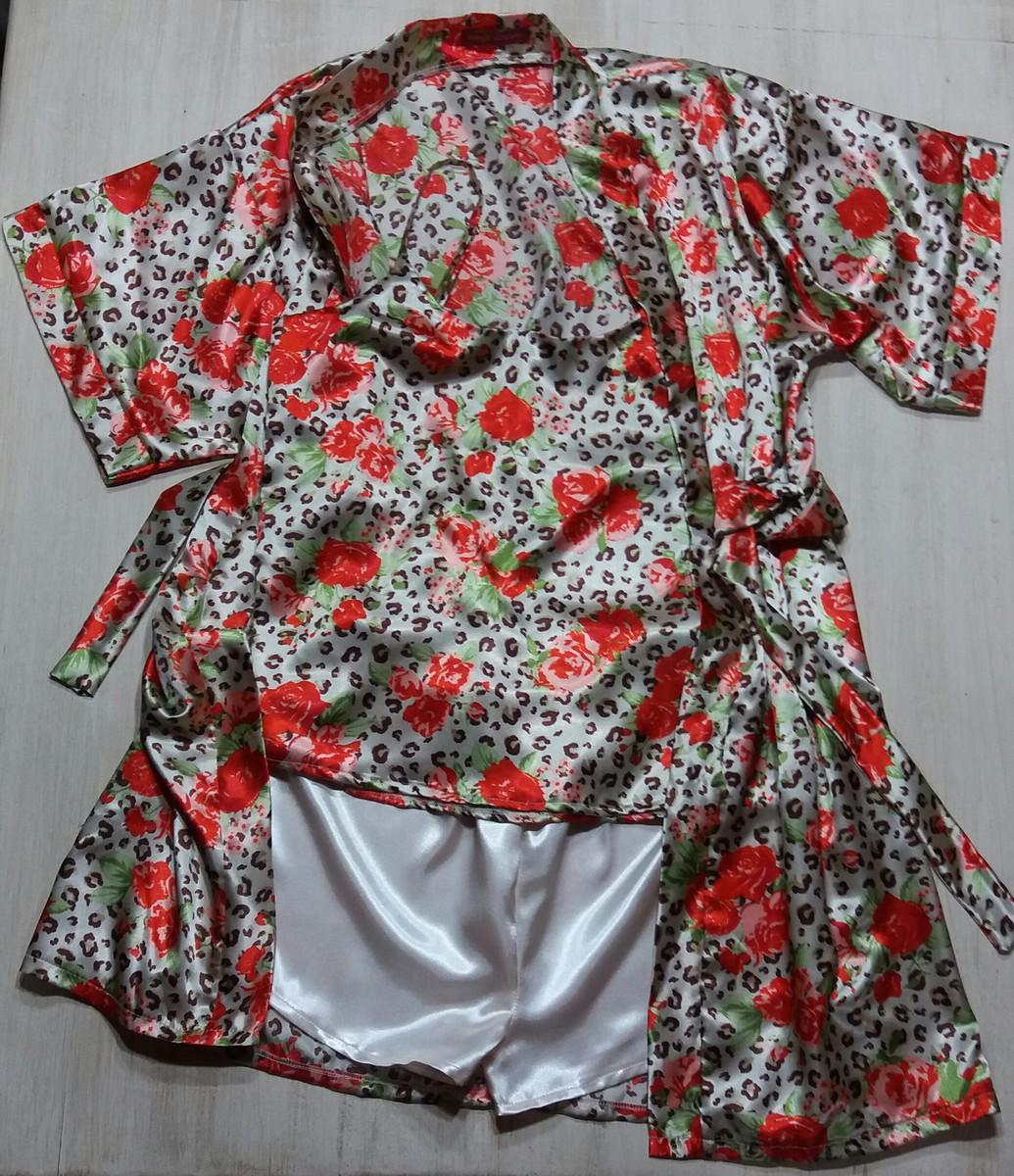 cd1aa8400 Robe e pijama cetim charmeusse no Elo7