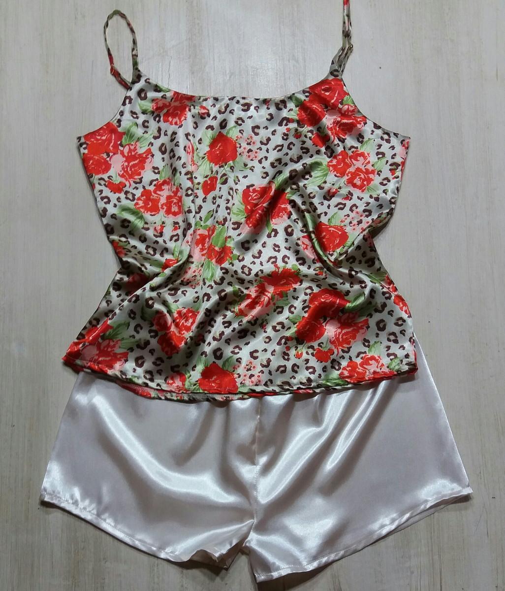 e54ac40ff Pijama cetim floral no Elo7