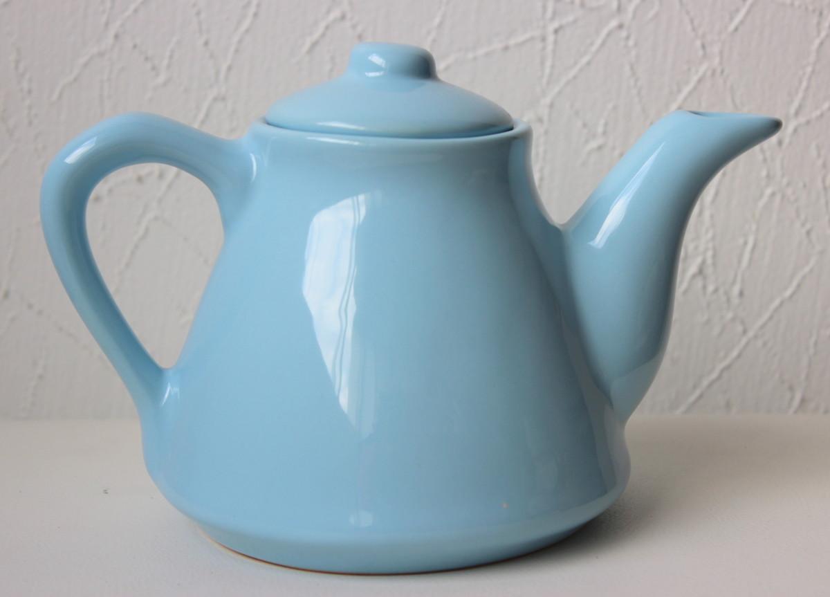 bule de cerâmica azul claro no elo7 débora costa 92ff21