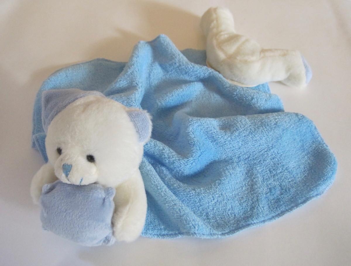 Naninha com Urso gorro azul e soft azul no Elo7  4e473818da0