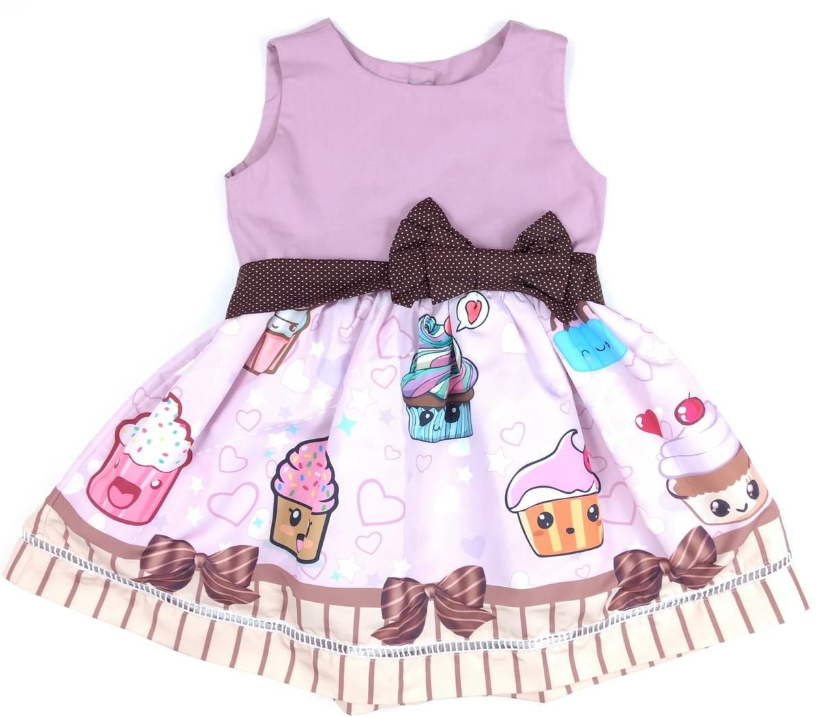 Vestido Cupcake Desenho No Elo7 Outlet Kids 845186
