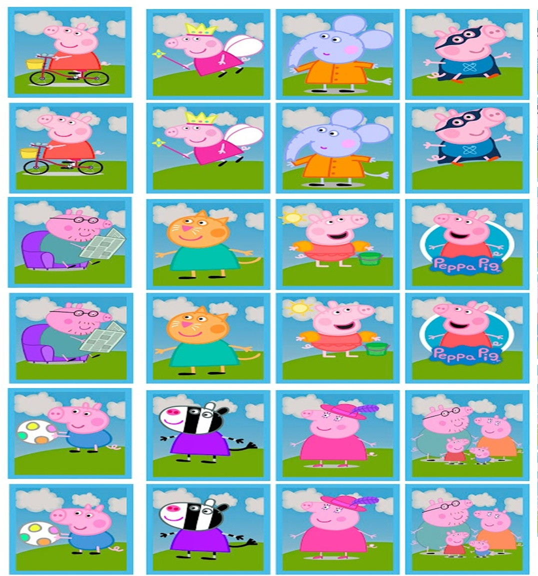 Zoom · Jogo da Memória Peppa Pig
