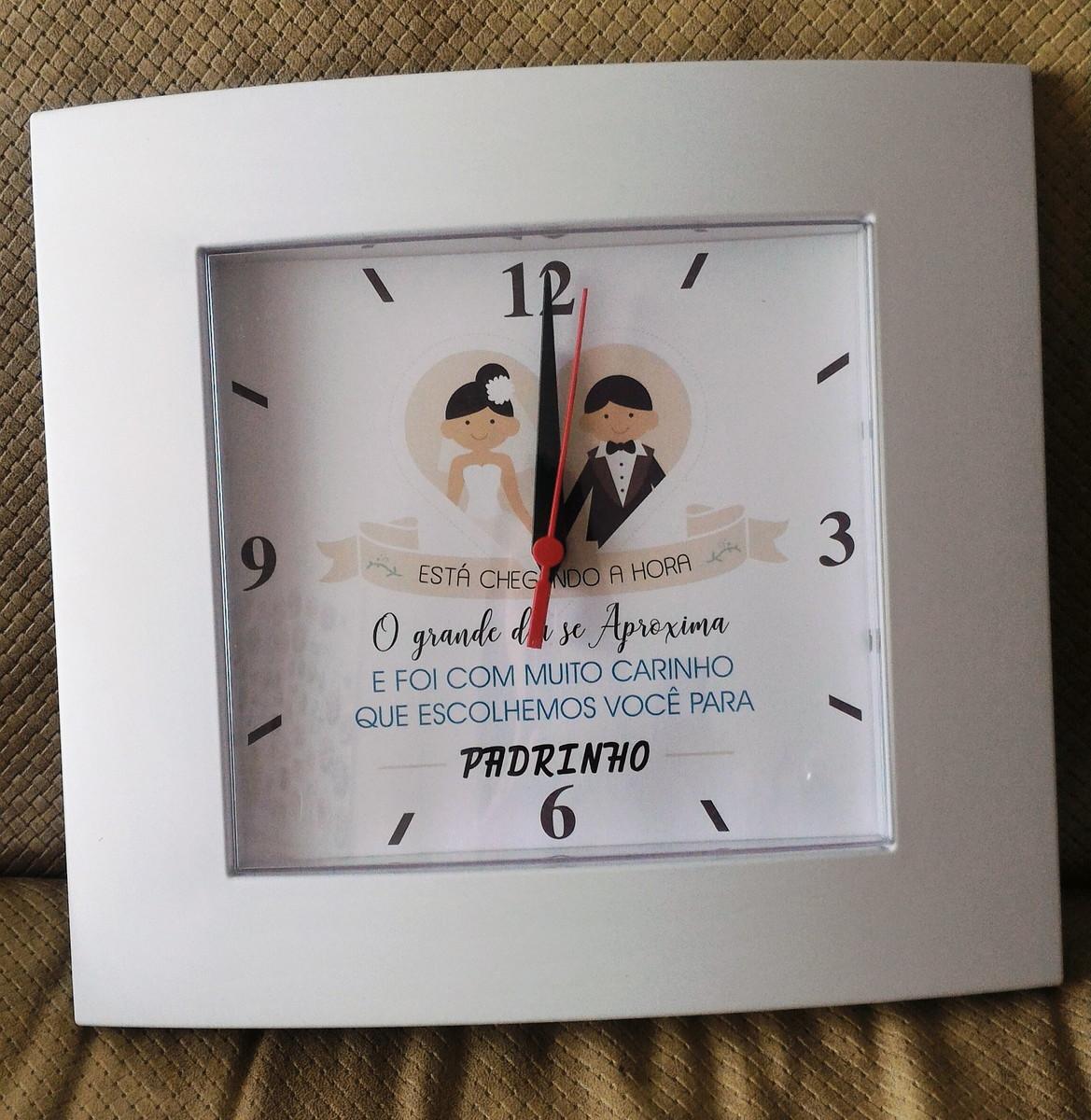 1aaabf3c2be Relógio de parede personalizado no Elo7