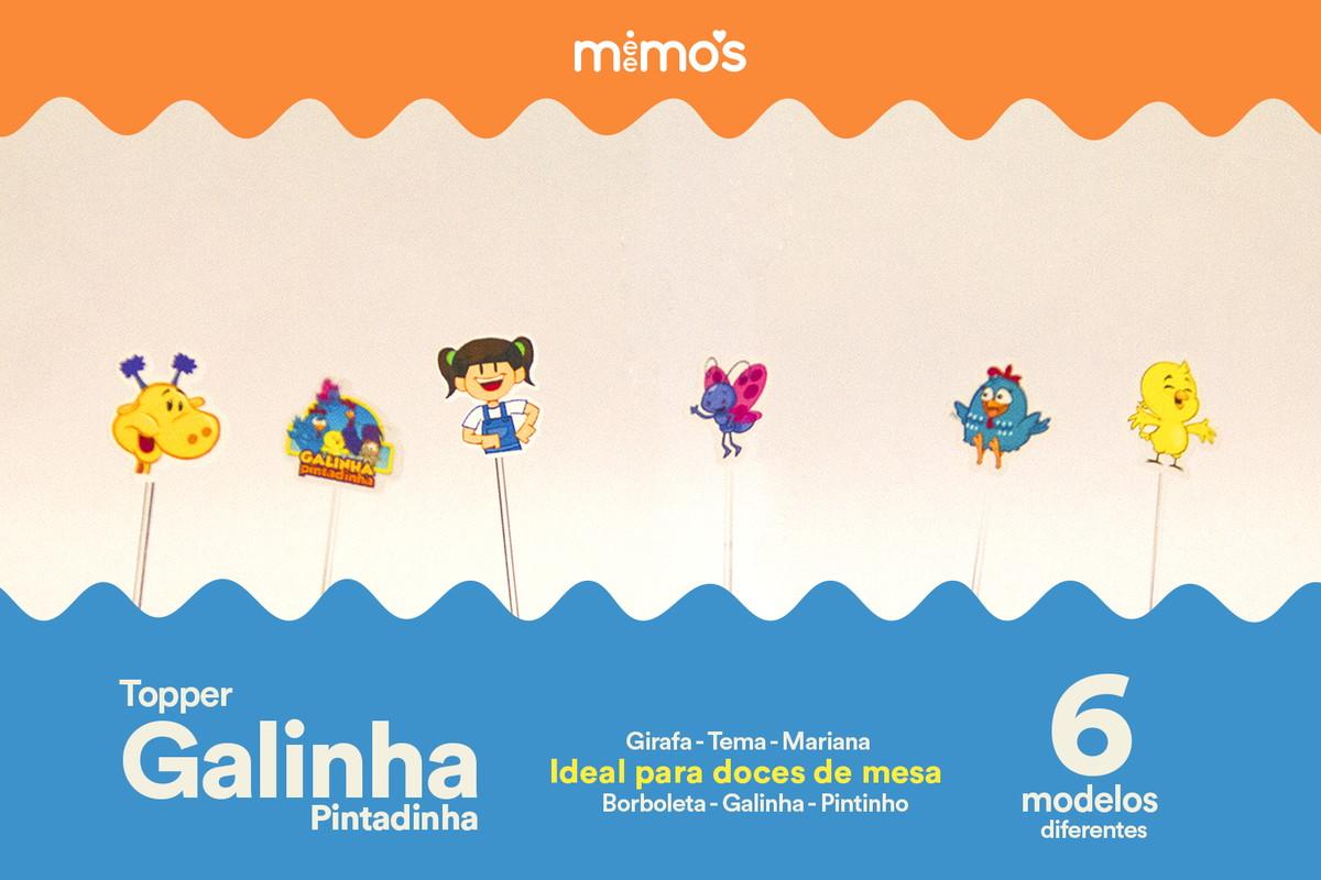 8ed1416e46 Kit com 30 Toppers - Galinha Pintadinha - FRETE GRATIS no Elo7 ...