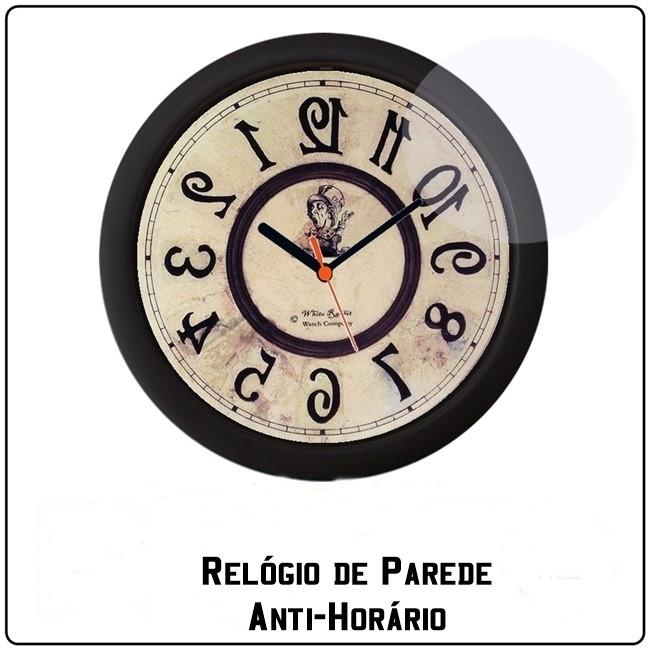 70240f19307 Relógio de Parede - Anti-Horário no Elo7