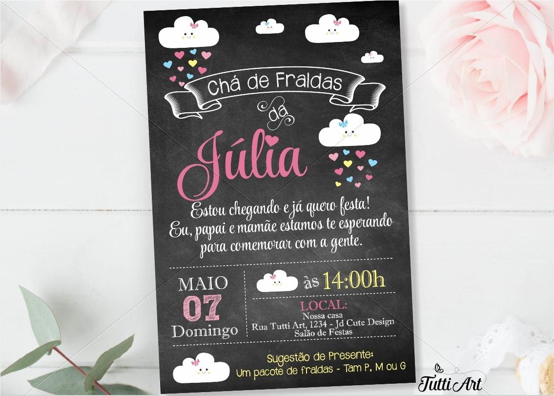 Convite Chuva De Amor Nuvem Digital No Elo7 Tuttiart 93c12e