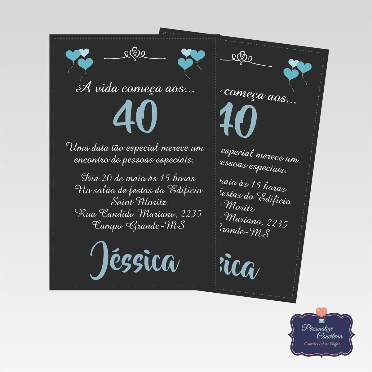 Convite Aniversário Adulto No Elo7 Personalize Conviteria 93d657