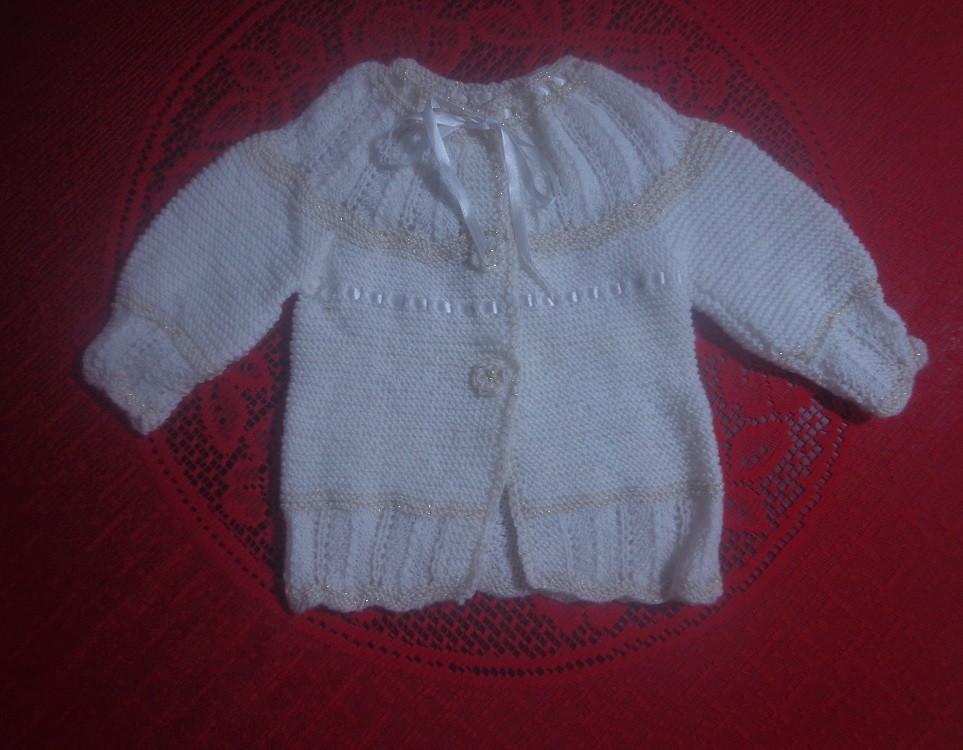 Casaco tricô à mão para menina 2 anos no Elo7   Roupas de bebê ... cb0cf953bf