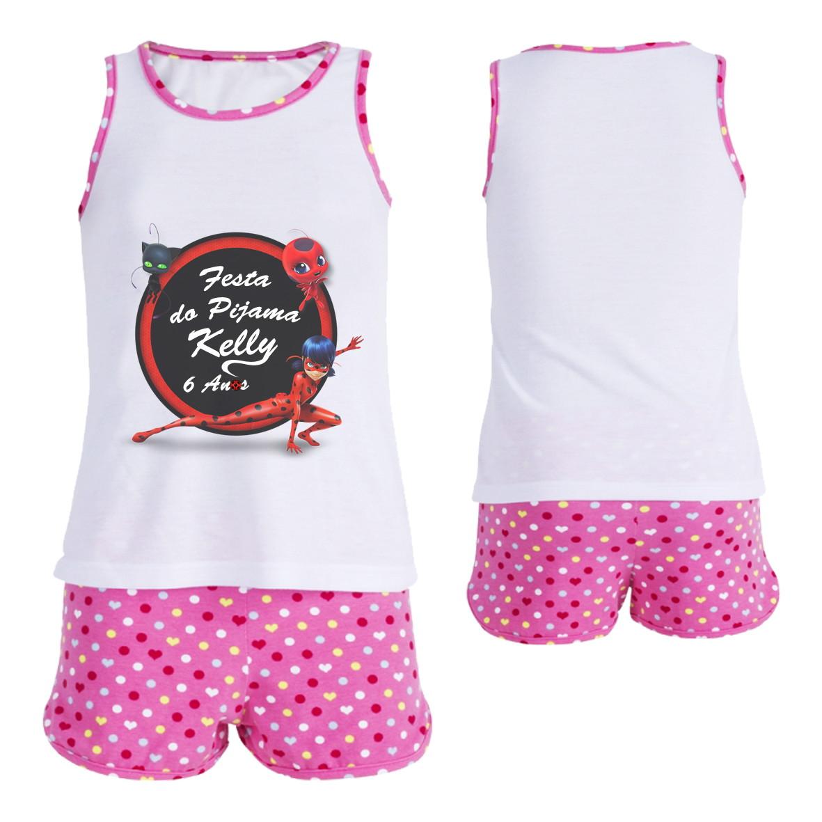 c3ab35b1a35 Conjunto Pijama Infantil Feminino no Elo7