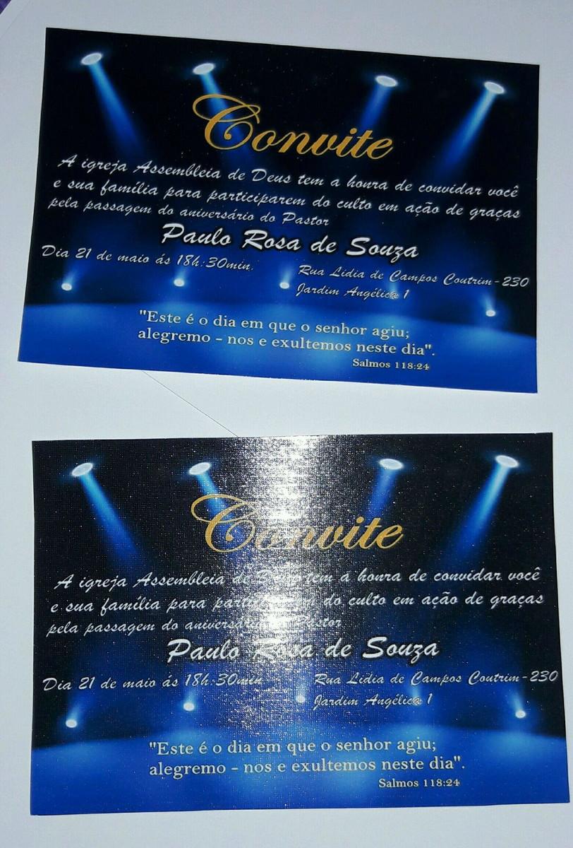 Convite Palco
