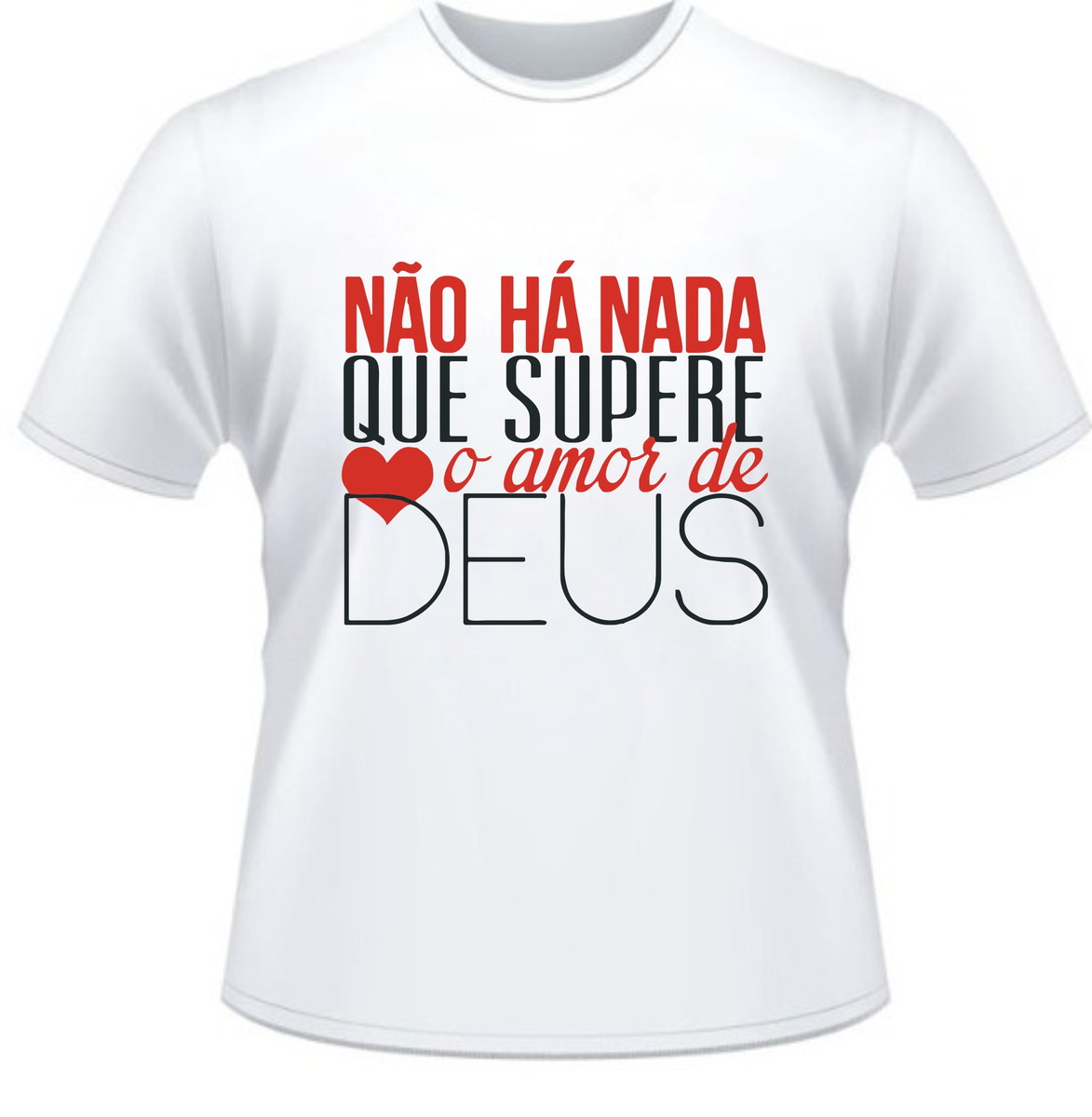3a39d9eea4 Camiseta Deus Amor Maior no Elo7