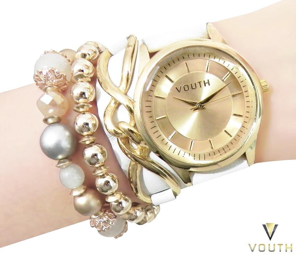 b667c417cd5 Relógio Bracelete Branco Feminino no Elo7