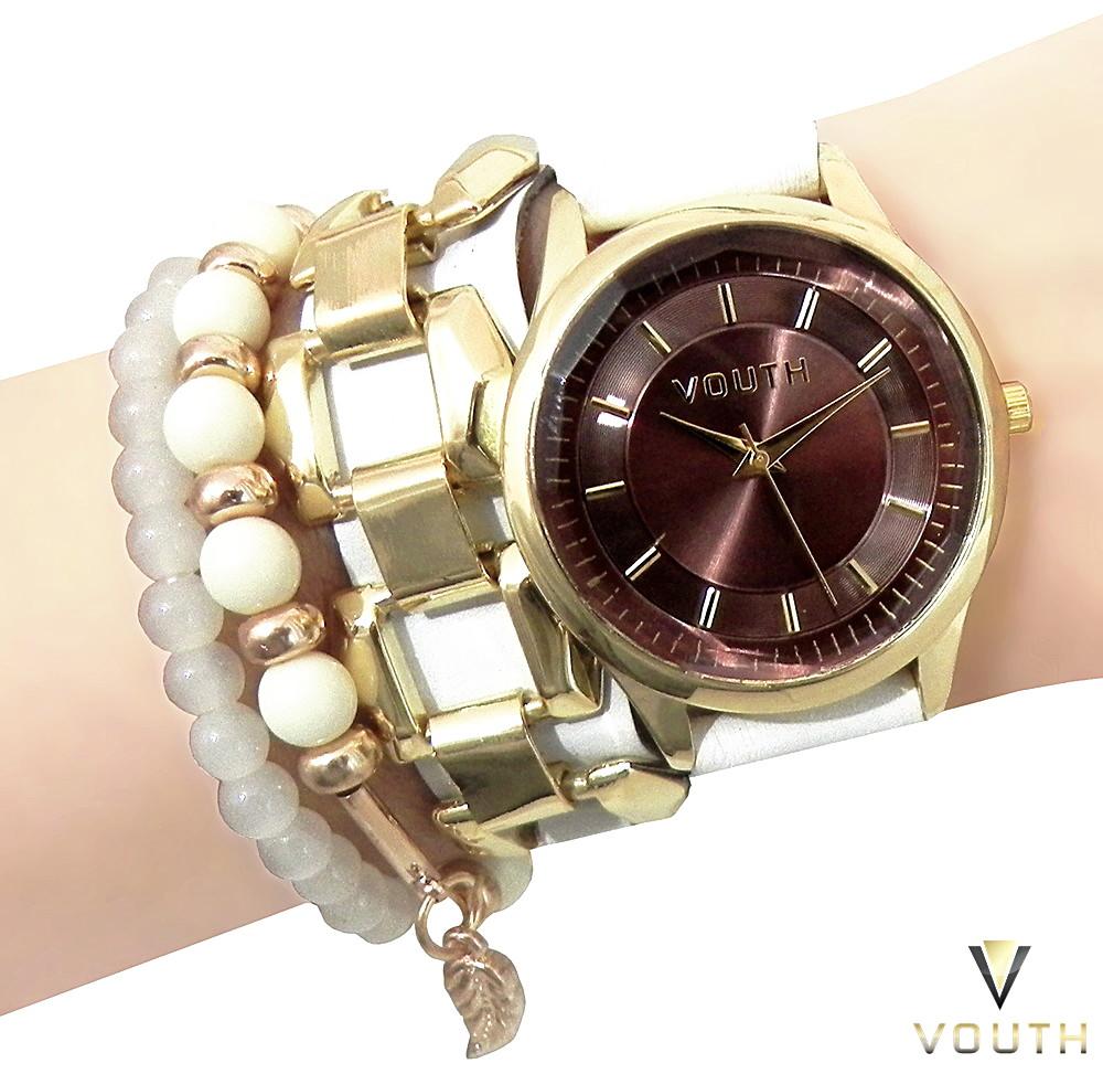 414760ae700 Relógio Bracelete Couro Feminino no Elo7