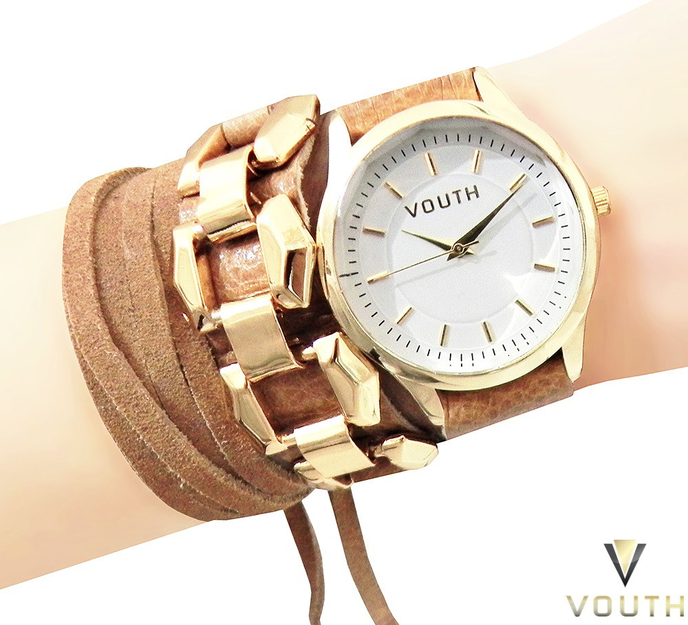 53388095a48 Relógio Bracelete Feminino De Couro no Elo7
