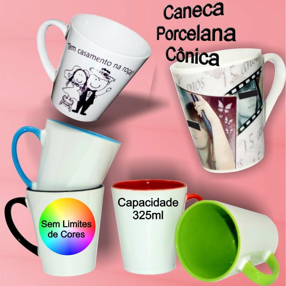 e33807ca9 1 Caneca Porcelana Cônica no Elo7