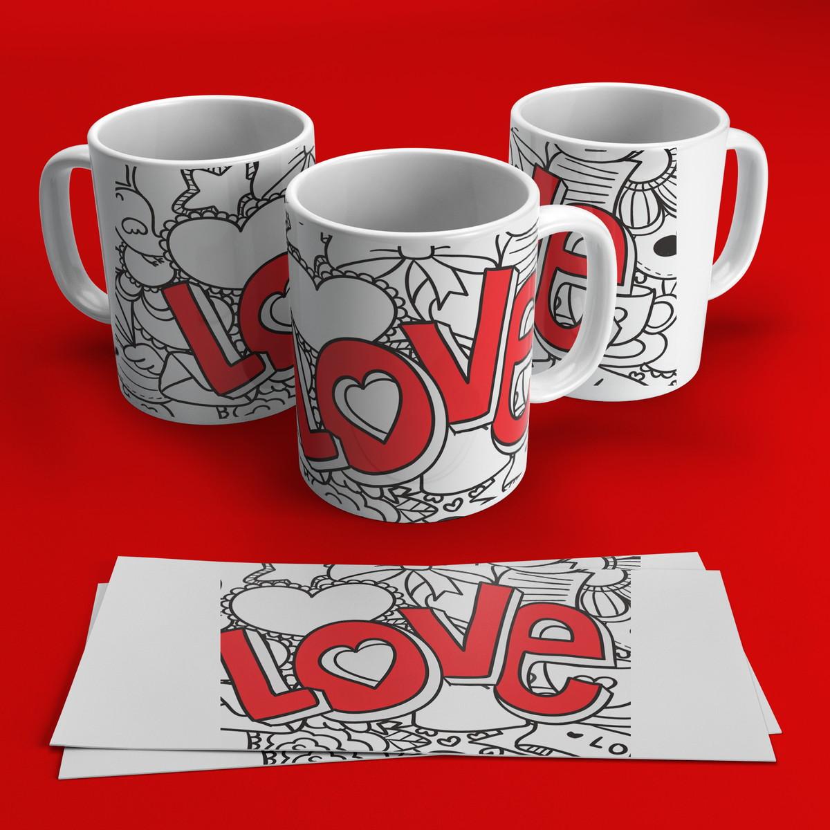 e6a53ffbf Caneca de Porcelana Dia dos Namorados no Elo7
