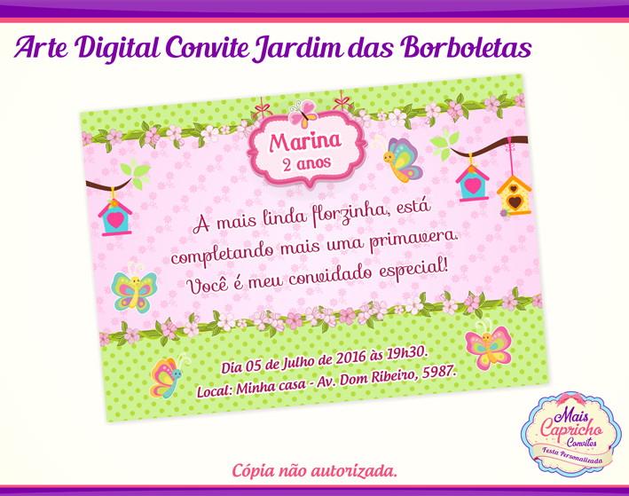 Convite Digital Jardim Das Borboletas No Elo7 Mais Capricho