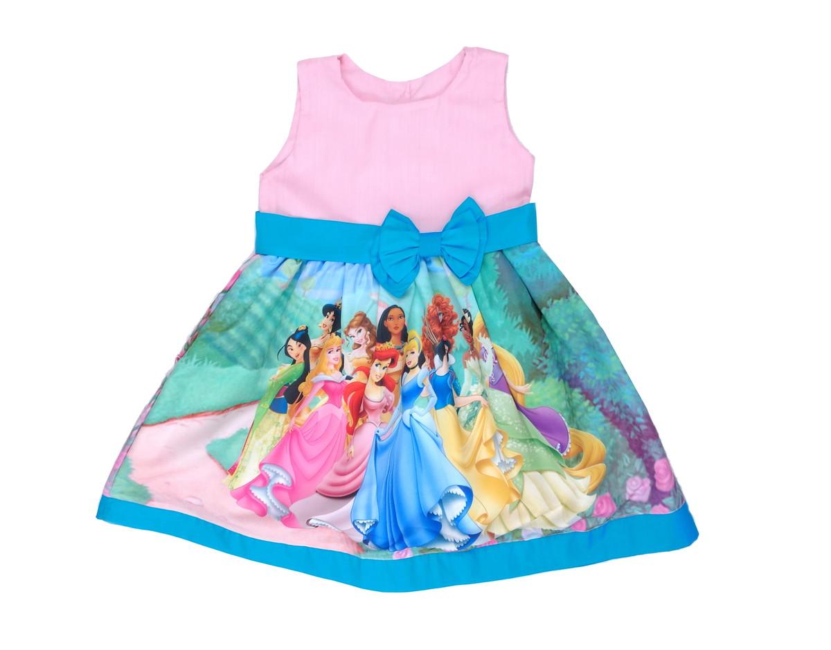 16d588b0f2d1de Vestido Princesas Disney 8 e 10 anos